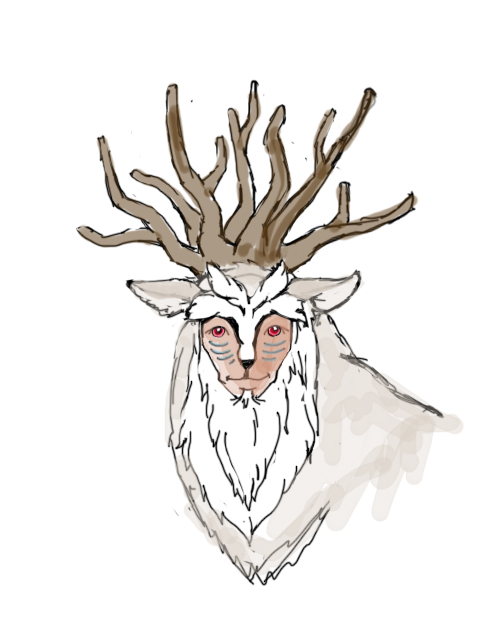Sketch of Mononoke's Shishigami (Forest Spirit)