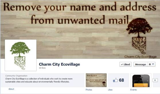 Charm City EcoVillage Facebook!