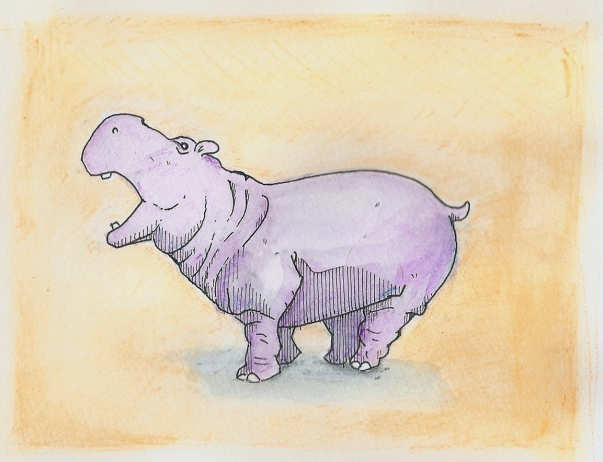 Danielle's birthday hippo
