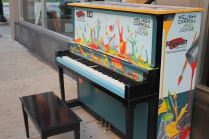 An arts initiative places painted pianos throughout the City of Lancaster