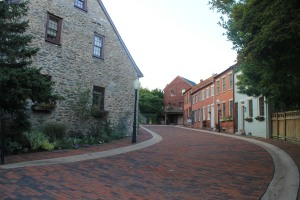 Curved alleys are scatter throughout Oldtown in Lancaster, PA